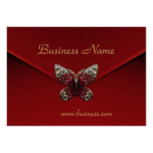 Profile Card Business Rich Red Velvet Butterfly Business Cards