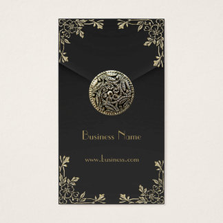 Profile Card Business Sepia Black Velvet