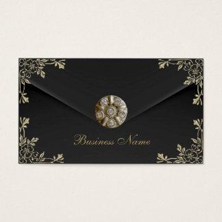 Profile Card Business Sepia Black Velvet Jewel