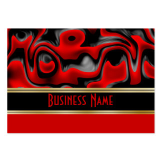 Profile Card Business Swirls Red Silver Black Business Card Templates