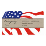 Profile Card - Decorative USA Flag Pack Of Standard Business Cards