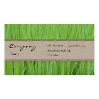 Profile Card - Green Grass Business Card Template