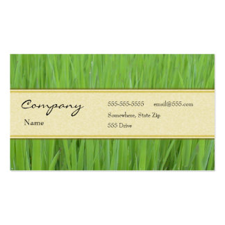 Profile Card - Green Grass Pack Of Standard Business Cards