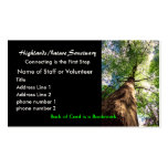 profile card, Highlands Nature Sanctuary Pack Of Standard Business Cards
