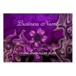 Profile Card Purple Floral Business
