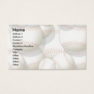 Profile Card Template - Baseballs