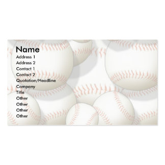 Profile Card Template - Baseballs Pack Of Standard Business Cards