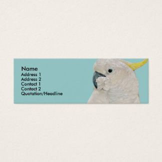 Profile Card Template - Cockatoo Parrot