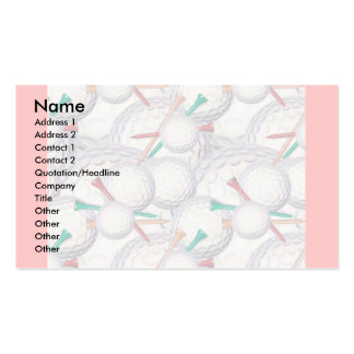 Profile Card Template - Golf Pack Of Standard Business Cards
