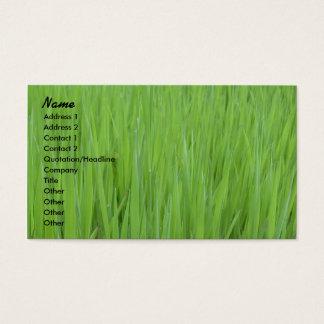 Profile Card Template - Green Grass Texture