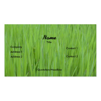 Profile Card Template - Green Grass Texture Pack Of Standard Business Cards