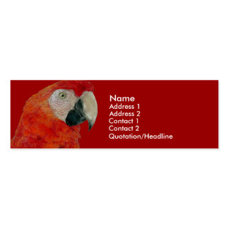Profile Card Template - Macaw Pack Of Skinny Business Cards