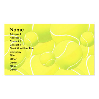 Profile Card Template - Tennis Pack Of Standard Business Cards