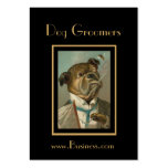 Profile Card Vintage Dog Groomers Business Card Templates
