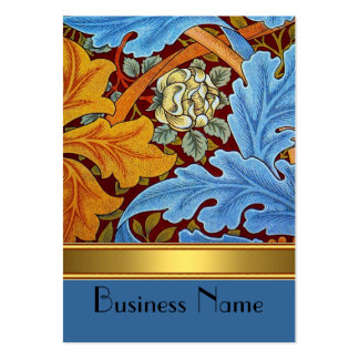 Profile Card Vintage Print William Morris Gold Business Card Template