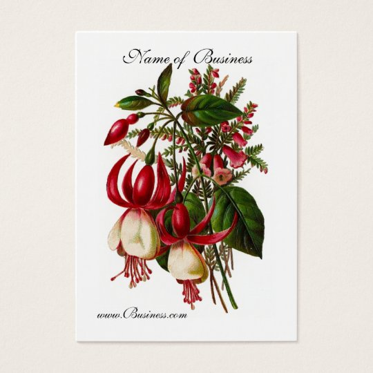 Profile Card Vintage Red Floral