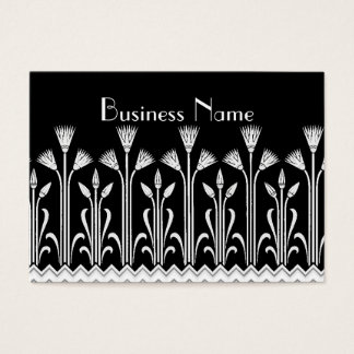 Profile Card Vintage Victorian Pattern Black White