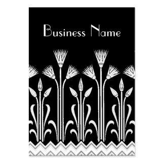 Profile Card Vintage Victorian Pattern Black White Large Business Cards (Pack Of 100)