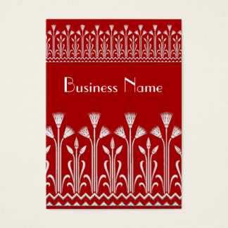 Profile Card Vintage Victorian Pattern Red White