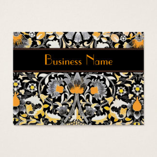 Profile Card Vintage William Morris Orange Floral