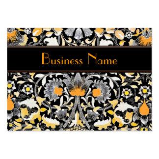 Profile Card Vintage William Morris Orange Floral Business Card Templates