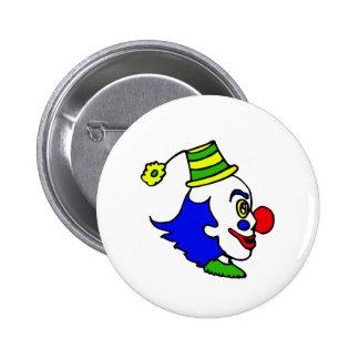 Profile Clown Head 6 Cm Round Badge