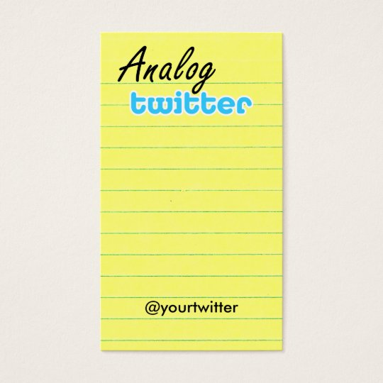 Profile / Note Card! AnalogTwtr yelbkinfo