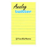 Profile / Note Card! AnalogTwtr yelbkinfo Pack Of Standard Business Cards