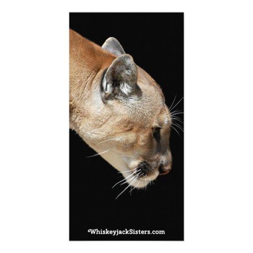Profile of a Cougar Custom Photo Card