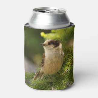 Profile of a Cute Grey Jay / Whiskeyjack Can Cooler
