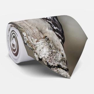 Profile of a Male Downy Woodpecker Tie