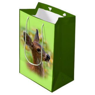 Profile of a Young Black-Tailed Deer Medium Gift Bag