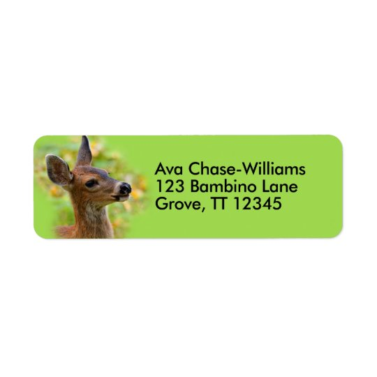 Profile of a Young Black-Tailed Deer Return Address Label