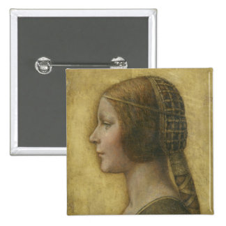 Profile of a Young Fiancee 15 Cm Square Badge