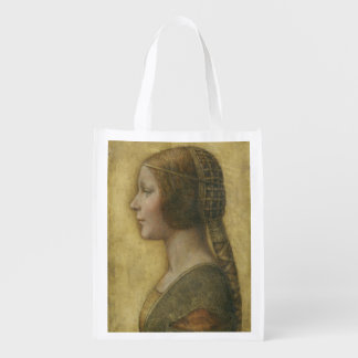 Profile of a Young Fiancee Reusable Grocery Bag