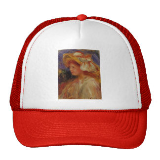 Profile of a Young Woman in a Hat by Pierre Renoir