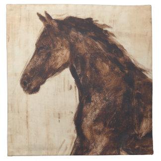 Profile of Brown Wild Horse Napkin