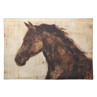 Profile of Brown Wild Horse Placemat