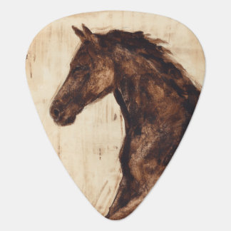 Profile of Brown Wild Horse Plectrum