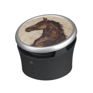 Profile of Brown Wild Horse Speaker