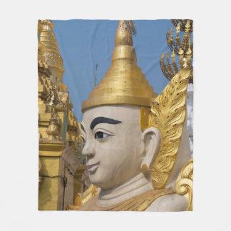 Profile Of Buddha Statue Fleece Blanket