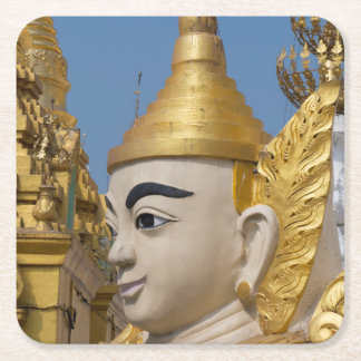 Profile Of Buddha Statue Square Paper Coaster