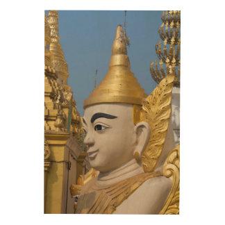 Profile Of Buddha Statue Wood Wall Art