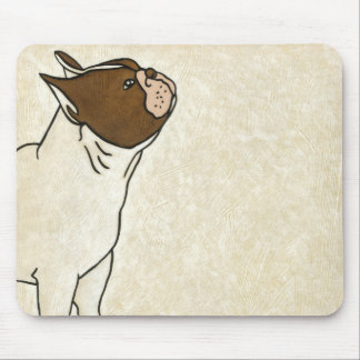Profile of French Bulldog Looking Up Mouse Pad