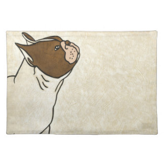 Profile of French Bulldog Looking Up Placemat