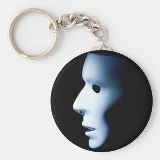 Profile of Ghost Like Face.jpg Key Chain
