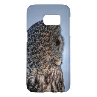 Profile of Great Grey Owl Wildlife Photo Portrait