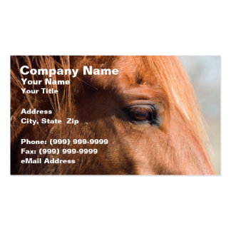 Profile of Horse Business Card Template