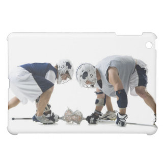 Profile of two young men playing lacrosse iPad mini cover