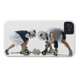 Profile of two young men playing lacrosse iPhone 4 covers